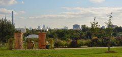 Komposttoiletten nowato im Wissenschaftsgarten der Goethe-Universität, Frankfurt am Main