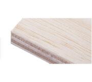 12mm starke Balsa-Sperrholzplatte (BANOVA), ohne Weißdruck - hochwertiger Plattendirektdruck
