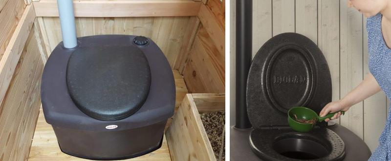 Autarke Toilette mit Biolan eco