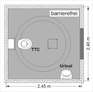 Goldgrube - Quadratische Bodenplatte aus Beton, Barrierefreie-Größe