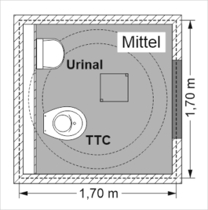 Goldgrube - Quadratische Bodenplatte aus Beton, Mittel-Größe