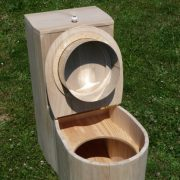 Komposttoilette für Zuhause, Modell 'Die Schnecke', unbehandelt