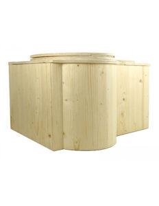 Composting toilet Butterfly. Komposttoilette 'Der Schmetterling'. Einstreu-Toilette aus Holz, in Frankreich hergestellt.