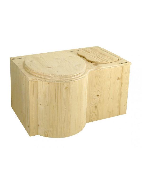 Autonome Sanitärtechnik durch Kompostierung. Toilette für zu Hause.