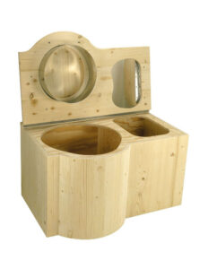 Composting toilet Butterfly. High quality wood product made in France.