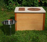 Die Bunte, ocker - Komposttoilette für Zuhause