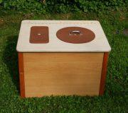 Die Bunte, ocker- Komposttoilette für Zuhause