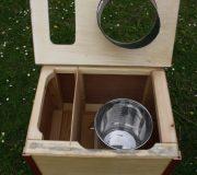 Die Bunte - Komposttoilette für Zuhause - offen - mit Edelstahleimer