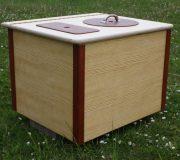 Die Bunte, rot - Komposttoilette für Zuhause