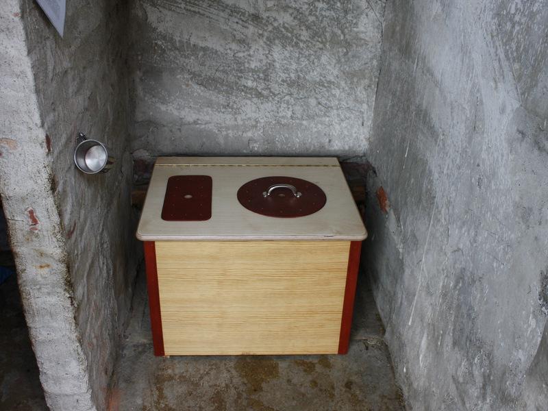 'Die Bunte' Komposttoilette für Innenräume