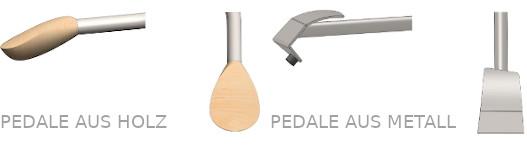 ECODOMEO Pedale aus Holz oder aus Metall zur Wahl