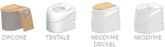 Toilette ECODOMEO 4 Sitze zur Wahl
