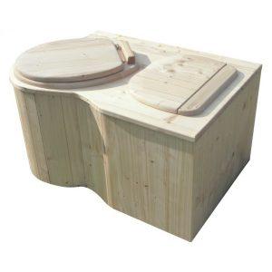 """Komposttoilette für Zuhause - Modell """"Der Eck-Schmetterling"""", Sitz links, unbehandelt"""