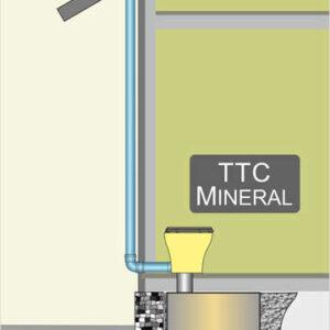 Drytoilet with separation : Einbau unter Fußboden in Gebäude mit Streifenfundamenten, bei Neubau und Altbau möglich, kein Lastabtrag auf die GG