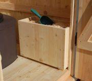 Einstreukiste aus Holz, Toilette Modell WIESE