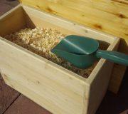 Einstreubehälter - Kiste aus Holz, unbehandelt