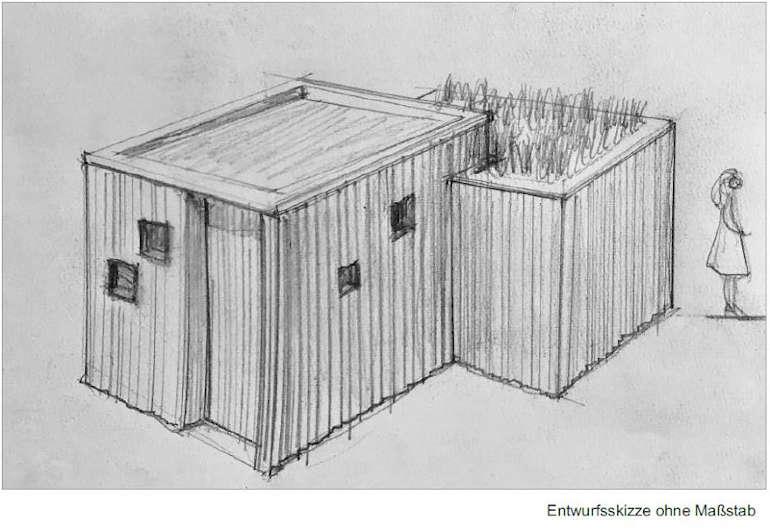 Toilettenanlage KUBUS - Entwurfskizze - Sicht von oben