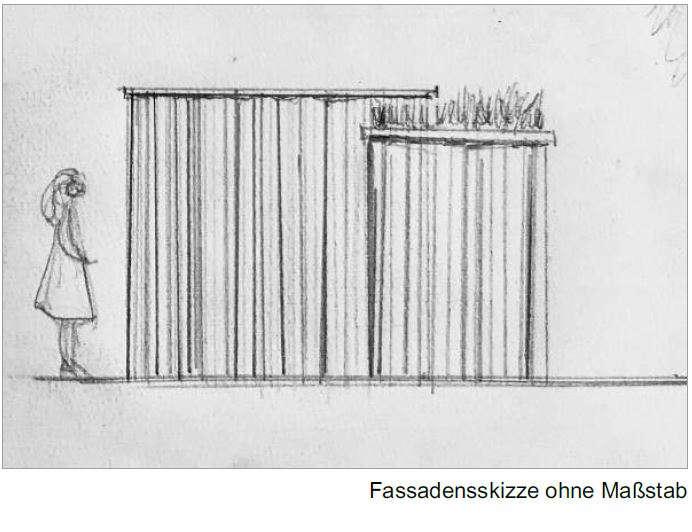 Toilettenanlage KUBUS - Facadenskizze