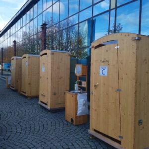 Filmdreh TATORT Murot- Komposttoilette HEIDE - Frankfurt - Toilettenvermietung Handwaschbecken Vermietung