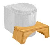 Fußstütze Toilettenhocker - physiologischer Abstützhocker