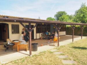 nowato - kleiner Vortrag über Komposttoiletten - Gebäude des Vereines 'Unter der Nussbäume' Wiesbaden e.V. in der Gartenkolonie