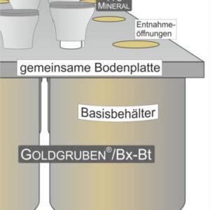 Goldgrube Beton Bx-Bt mit integriertem Teilbehälter für Fäzes und Urin