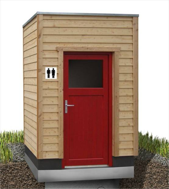Toilettenhaus GG-LÄRCHE-M für Goldgrube