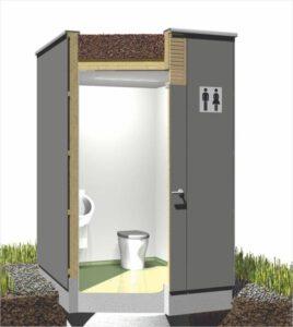 Toilettenhaus GG-PANEEL-M für Goldgrube