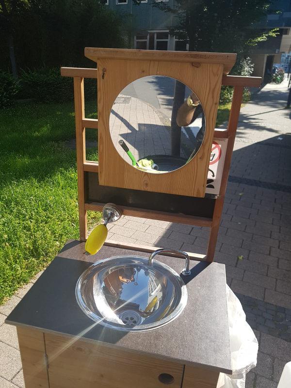 Verkauf Handwaschbecken aus Holz für den Garten