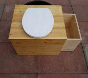 Komposttoilette 'Die große Kleine' mit optionalem Einstreubehälter - Ansicht von oben
