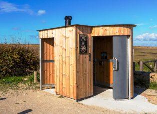 Trockentoilette Kazuba KL2 - barrierefrei mit separatem Urinal - öffentliche Toilette kaufen