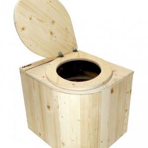 Bio-Toilette Die Libelle aus Fichte unbehandelt - Ansicht von vorne