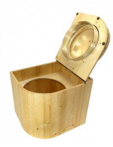 Kompost-Toilette Die Libelle aus Fichte lackiert - Toilette geöffnet