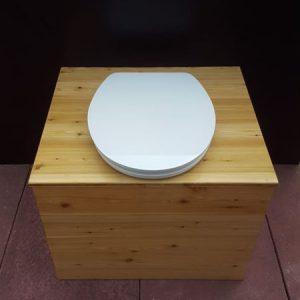 Komposttoilette 'Die große Kleine' mit 80L-Behälter - Ansicht von oben