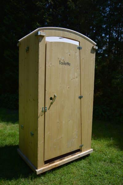 Kompost-Toilettenhäuschen HEIDE aus Holz - nowato - Außenansicht
