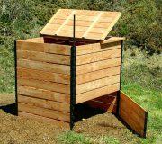 Geschlossener Komposter aus Douglasie 1200 Liter, offen