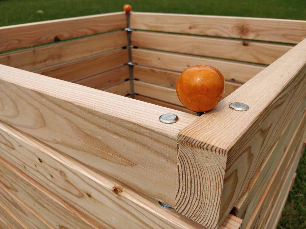 Komposter novum aus Holz mit Stecksystem