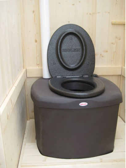 nowato - Komposttoilette Wiese aus Fichte - mit Biolan eco