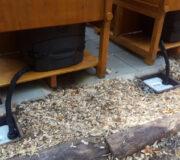 Komposttoilette Biolan eco - Kabine WIESE aus Lärchenholz lasiert - vertieftes Schacht für Sickerwasserkanister