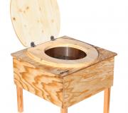 Toilette 'Der Käfer' - Biokontrollierte Einstreutoi. Toilettenbrille offenlette