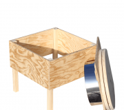 Innentoilette aus Holz 'Der Käfer'- unbehandelt - Abweisblech aus Edelstahl