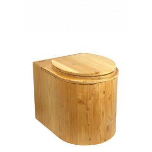 Komposttoilette Der Marienkäfer aus Douglasie, lackiert - Ansicht von vorne