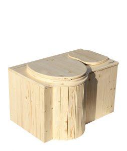 """Komposttoilette """"Der Schmetterling"""" · aus Fichte, lackiert · Sitz links"""