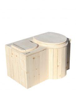 """Komposttoilette """"Der Schmetterling"""" · aus Fichte, unbehandelt · Sitz rechts"""