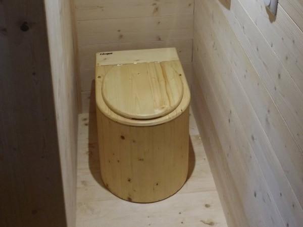 Komposttoilette 'Der Marienkäfer' in einem Tinyhouse