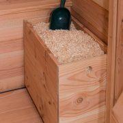 Einstreukiste aus Holz für Outdoor-Komposttoiletten
