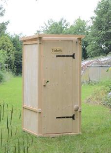 Komposttoilette Modell 'Wiese' aus Fichte