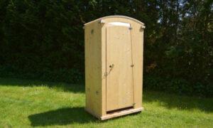 Komposttoilette Toilettehäuschen HEIDE mit 80 L Behälter. Aussenansicht