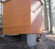 Komposttoilette WALD-barrierefrei, Hohenlochenhütte Wolfach - Rückansicht