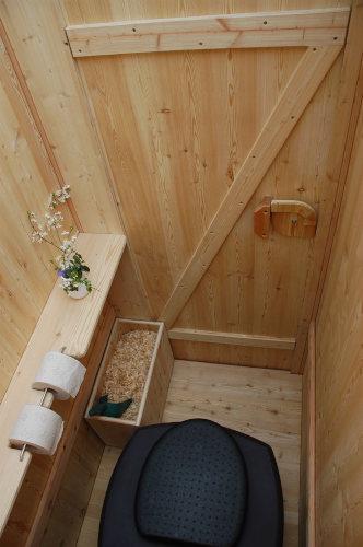 Komposttoilette WIESE Biolan - Innenansicht